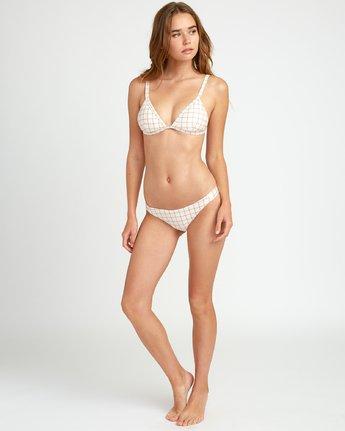 4 KLW Grid Tri Bralette Bikini Top White XT05URKB RVCA