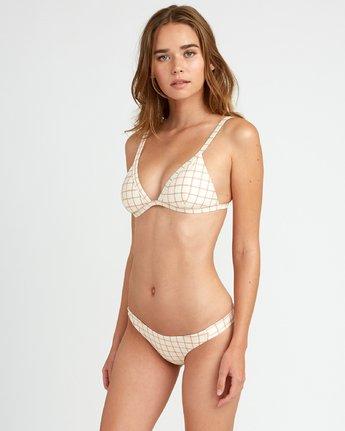 1 KLW Grid Tri Bralette Bikini Top White XT05URKB RVCA