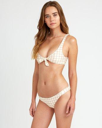 2 KLW Grid Knot Bikini Top White XT06URKT RVCA
