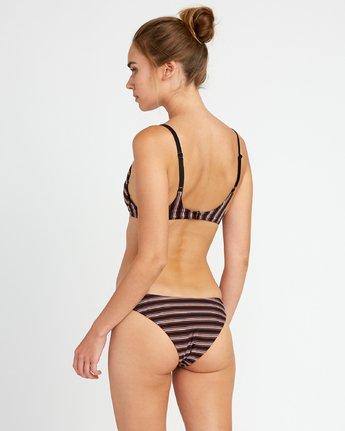 1 Bandit Striped Bralette Bikini Top Black XT09URBB RVCA