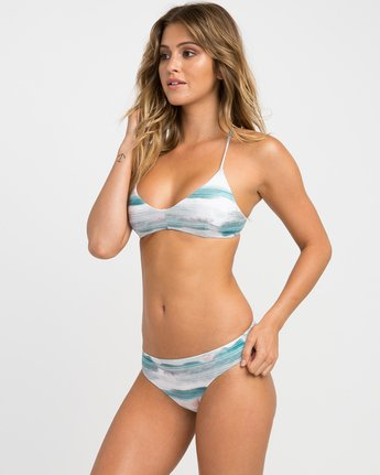 1 Washed Lines Crossback Bikini Top  XT12NRWC RVCA