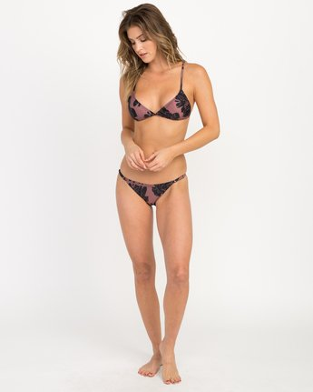 4 Peony Floral Triangle Bikini Top Pink XT12QRPT RVCA