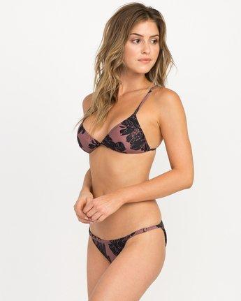 1 Peony Floral Triangle Bikini Top Pink XT12QRPT RVCA