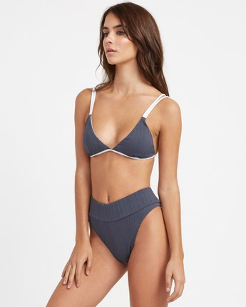 1 Linear Ribbed Bralette Bikini Top Grey XT15TRLB RVCA