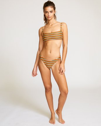 4 Retro Row Bikini Top Brown XT18VRRT RVCA