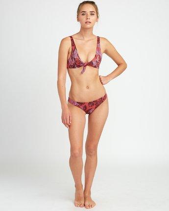 4 Tropic Punch Knot Bikini Top Red XT20URTT RVCA