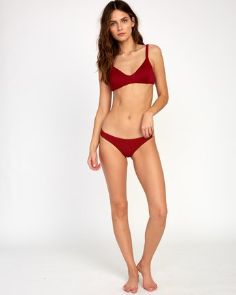 4 Fade Out Ribbed Bikini Top Red XT22VRFT RVCA