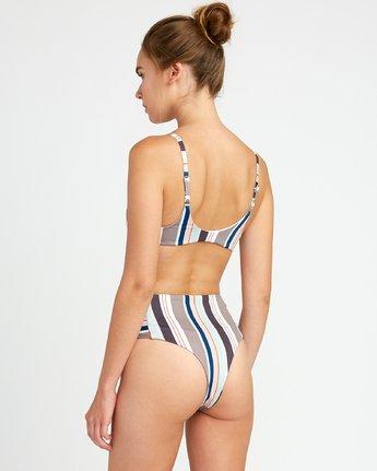 3 Off Shore Knot Bralette Bikini Top White XT30UROK RVCA