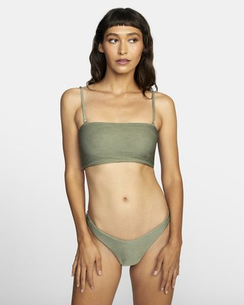 0 SALT WASH BANDEAU BIKINI TOP Beige XT413REV RVCA