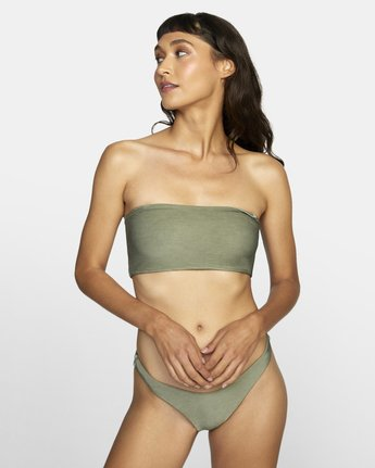 1 SALT WASH BANDEAU BIKINI TOP Beige XT413REV RVCA