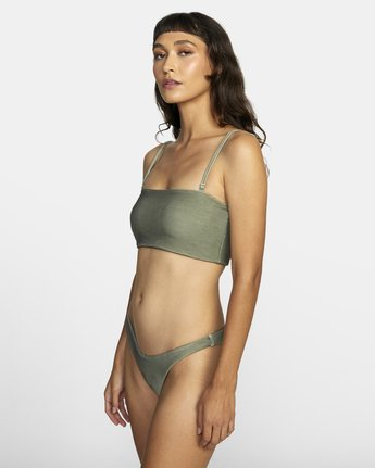 5 SALT WASH BANDEAU BIKINI TOP Beige XT413REV RVCA