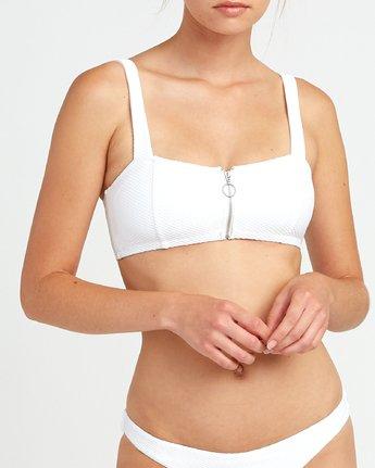 4 White Noise Bandeau Bikini Top White XT50URWT RVCA
