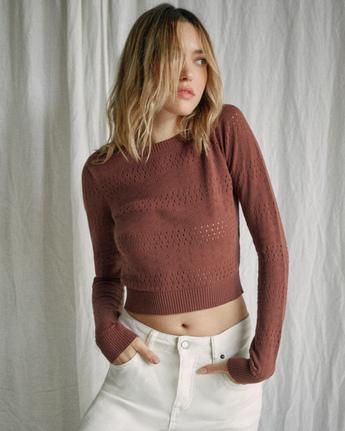 Camille Rowe Paris Pointelle  - Sweatshirt for Women  Z3JPRJRVF1