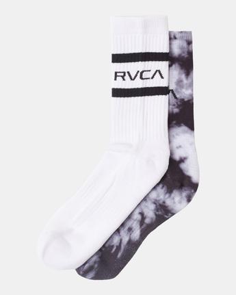 RVCA Tie Dye - Crew Socks [5 Pack] for Men  Z5SORLRVF1