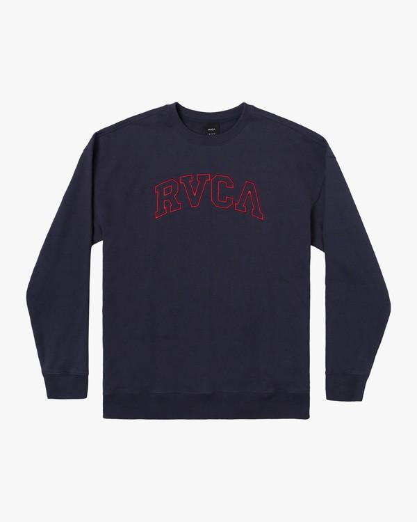 0 Boy's Hastings Emblem Crewneck Sweatshirt Blue AVBFT00111 RVCA