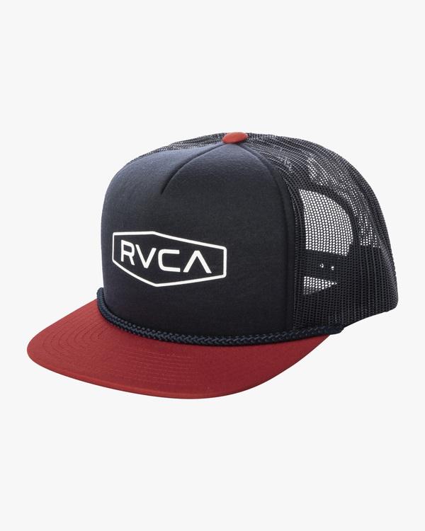 0 Boy's Staple Foamy Trucker Hat Blue AVBHA00111 RVCA