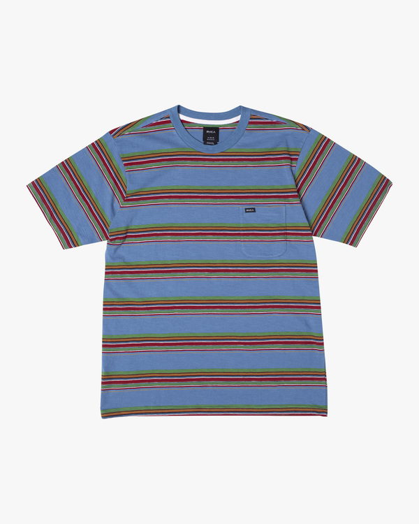 0 Boy's El Rosario Stripe Short Sleeve Tee  AVBKT00133 RVCA