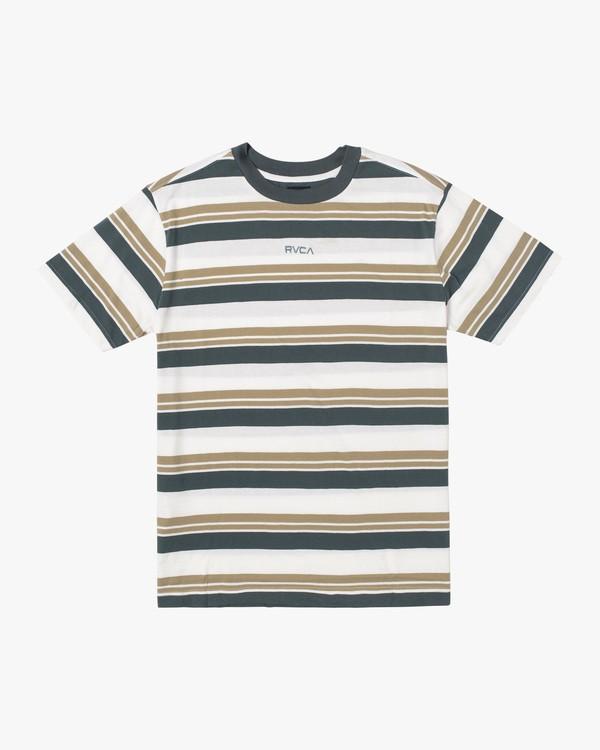 0 Boy's Curtis Stripe II Short Sleeve Tee White AVBKT00135 RVCA