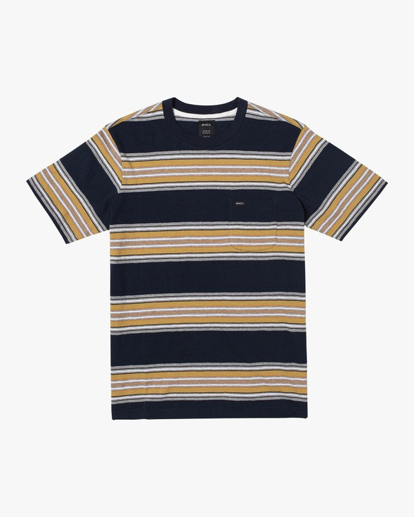 0 Boy's Fragment Stripe Short Sleeve Tee  AVBKT00138 RVCA