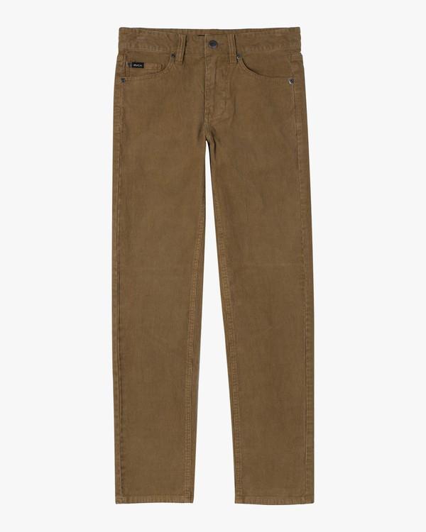 0 Boy's Daggers Pigment Slim Fit Corduroy Pants Brown AVBNP00100 RVCA