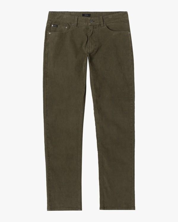 0 Boy's Daggers Pigment Slim Fit Corduroy Pants Green AVBNP00100 RVCA