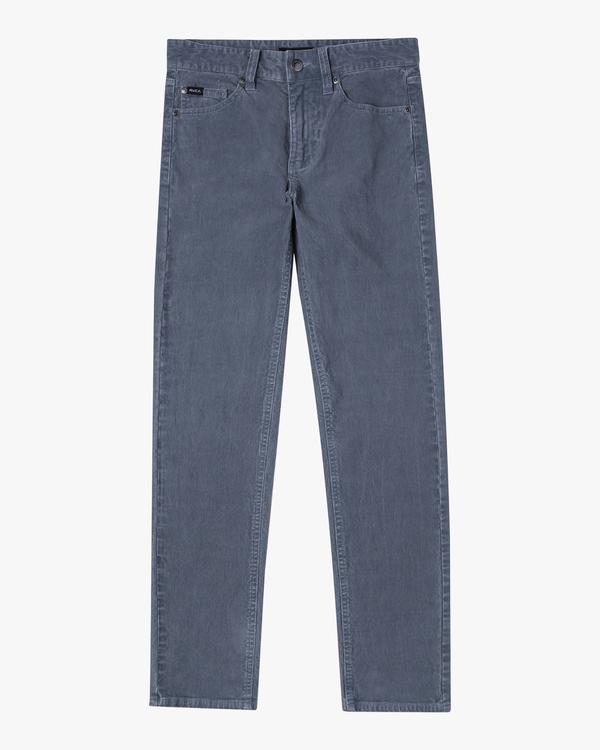 0 Boy's Daggers Pigment Slim Fit Corduroy Pants Grey AVBNP00100 RVCA