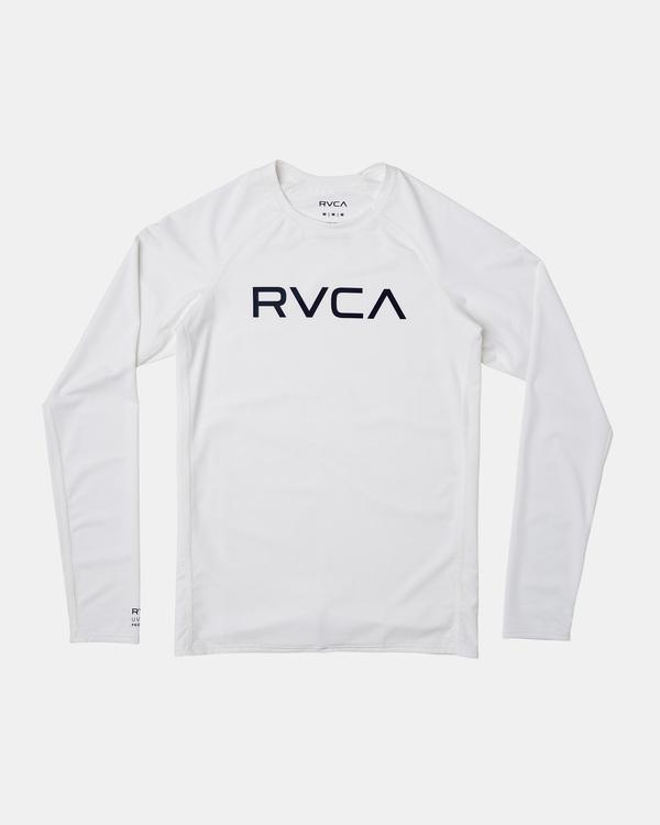 0 Boy's Long Sleeve Rashguard White AVBWR00100 RVCA