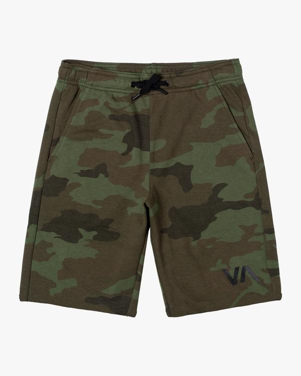 """0 Boy's VA Sport Short IV 17"""" Green AVBWS00107 RVCA"""