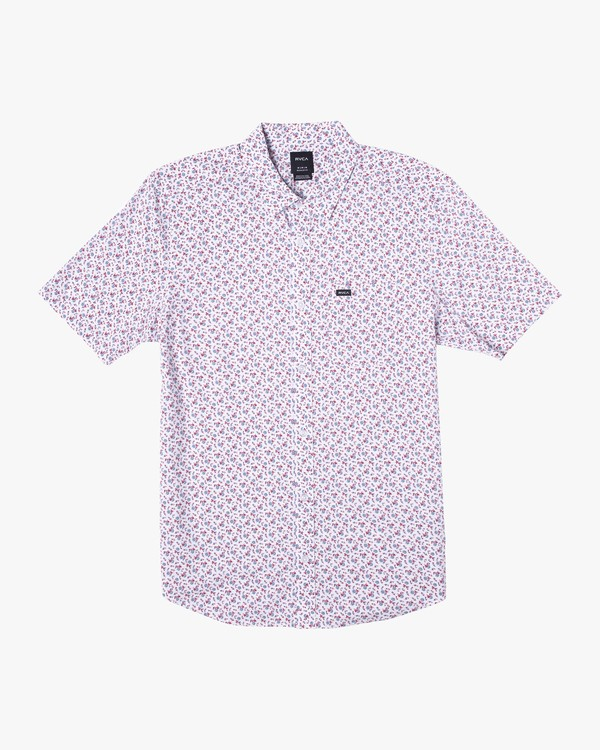 0 BOY'S SOLOMON FLORAL SHORT SLEEVE SHIRT White AVBWT00110 RVCA