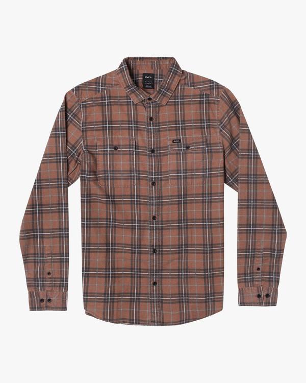 0 Boy's Panhandle Long Sleeve Flannel  AVBWT00133 RVCA