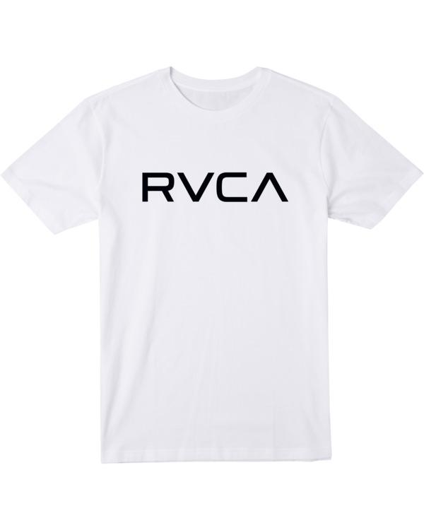 0 BOY'S BIG RVCA SHORT SLEEVE TEE White AVBZT00147 RVCA