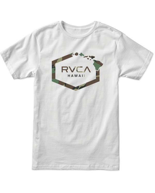0 BOY'S ISLAND HEX SHORT SLEEVE TEE White AVBZT00153 RVCA