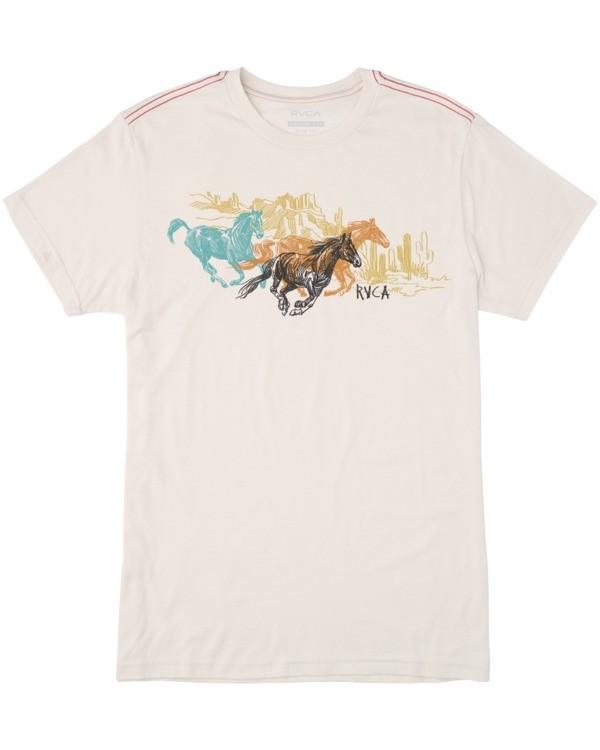 0 Ben Horton | Boys' Wyld Horses Short Sleeve Tee White AVBZT00164 RVCA