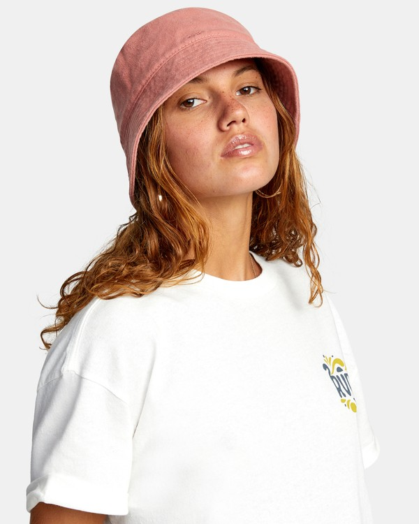 0 DROP IN THE BUCKET HAT Pink AVJHA00108 RVCA