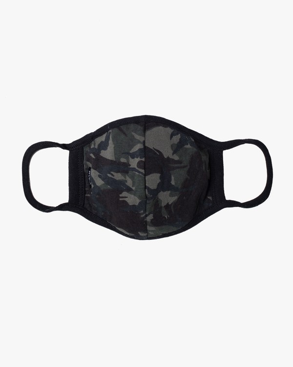 0 RVCA Face Mask Brown AVYAA00119 RVCA