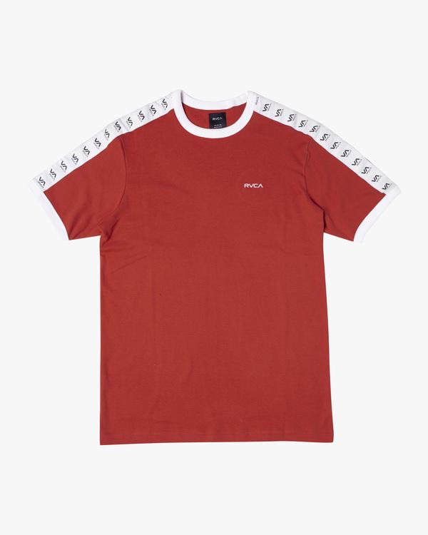 0 VA Casuals Taped Jersey Short Sleeve Tee White AVYKT00151 RVCA