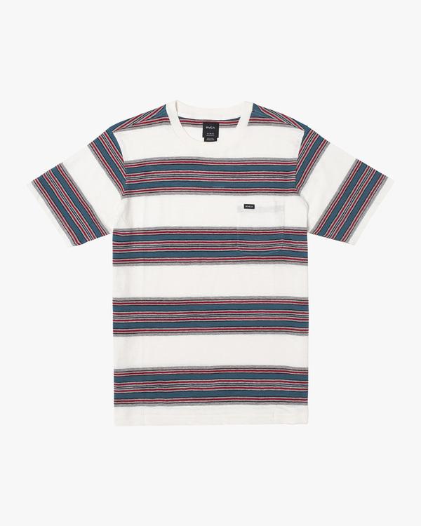 0 Fragment Stripe Short Sleeve Tee White AVYKT00165 RVCA