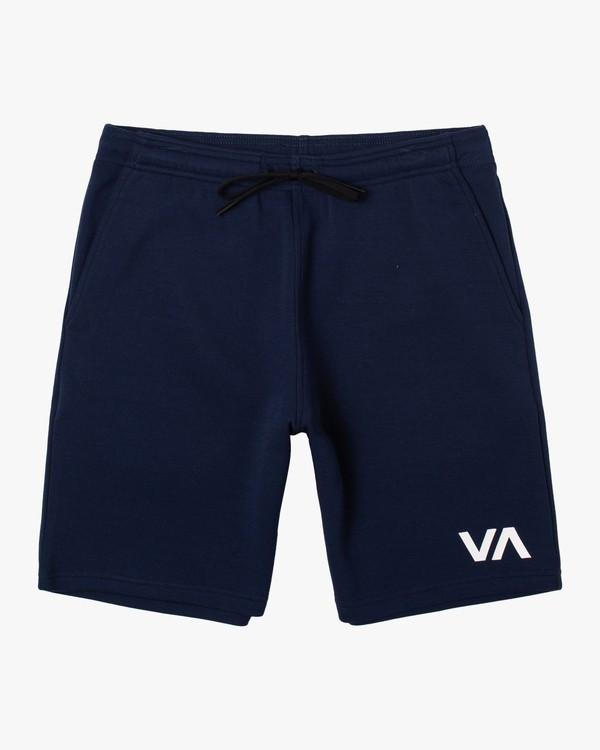 """0 VA SPORT IV 17"""" SWEAT SHORT Blue AVYWS00152 RVCA"""