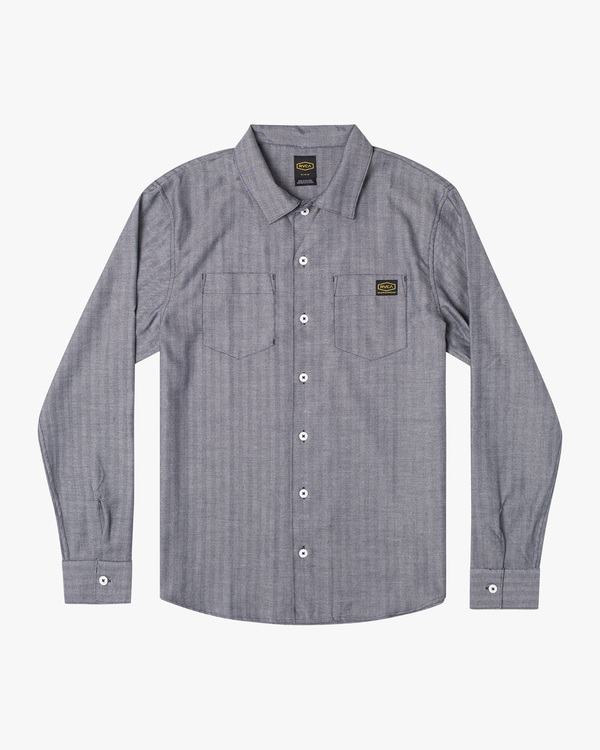 0 Day Shift Long Sleeve Shirt Blue AVYWT00127 RVCA