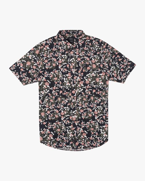 0 Baritone Short Sleeve Shirt Red AVYWT00227 RVCA