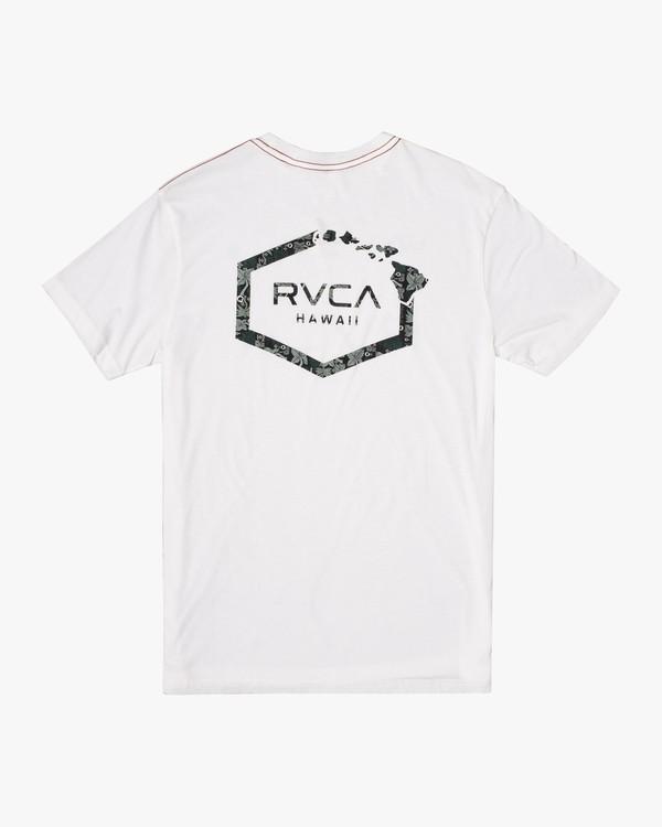0 HAWAII LEAGUE SHORT SLEEVE TEE White AVYZT00191 RVCA