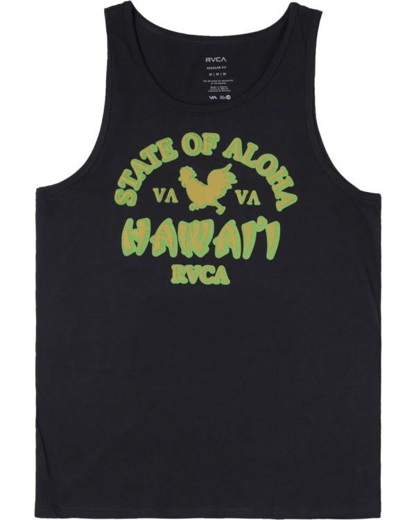 0 STATE OF ALOHA TANK TOP Black AVYZT00196 RVCA
