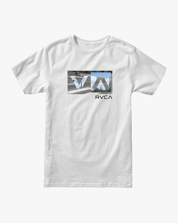 0 BALANCE BOX SHORT SLEEVE TEE White AVYZT00234 RVCA