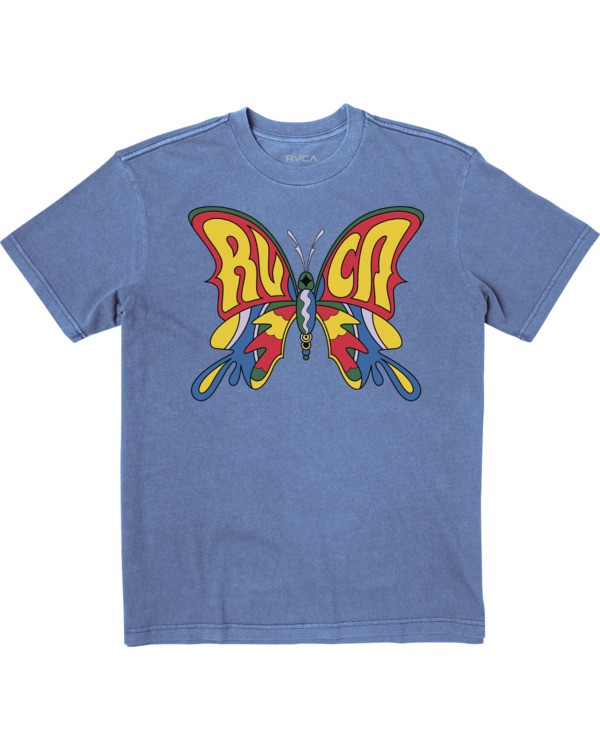 0 Swallowtail Short Sleeve Tee Blue AVYZT00493 RVCA