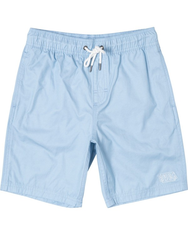 "0 Boy's Opposite Elastic Boardshorts 16"" Blue B1051ROE RVCA"