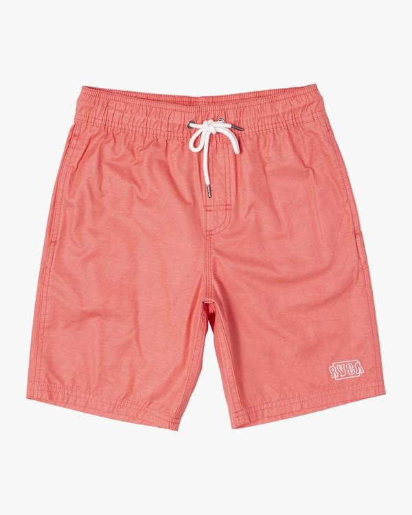 0 Boys OPPOSITES ELASTIC SHORT Pink B1051ROE RVCA