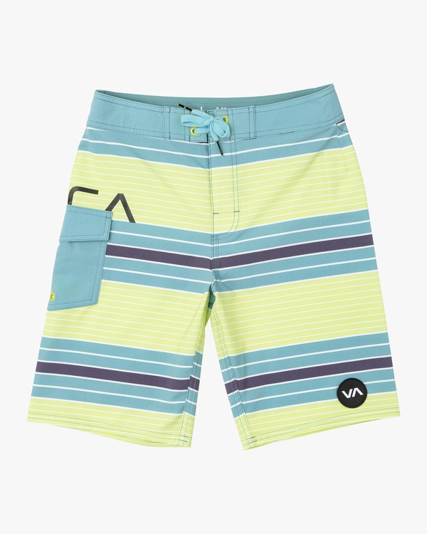 0 Boys UNCIVIL STRIPE TRUNK Yellow B1161RUS RVCA