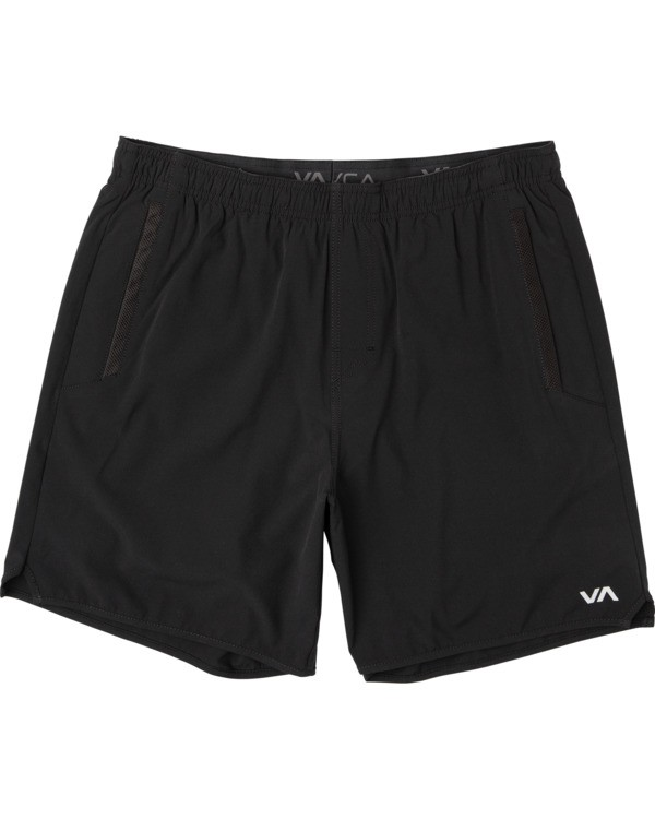 "0 VA Sport | Boy's Yogger III Athletic Shorts 15"" Black B2023RYG RVCA"