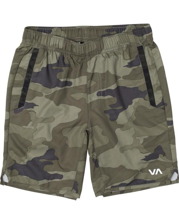"""0 Boys' Yogger III Athletic Shorts 15"""" Grey B2023RYG RVCA"""