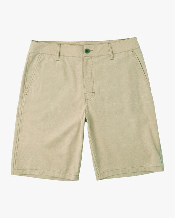 """0 Boy's Balance Hybrid Shorts 17"""" Beige B2031RBH RVCA"""